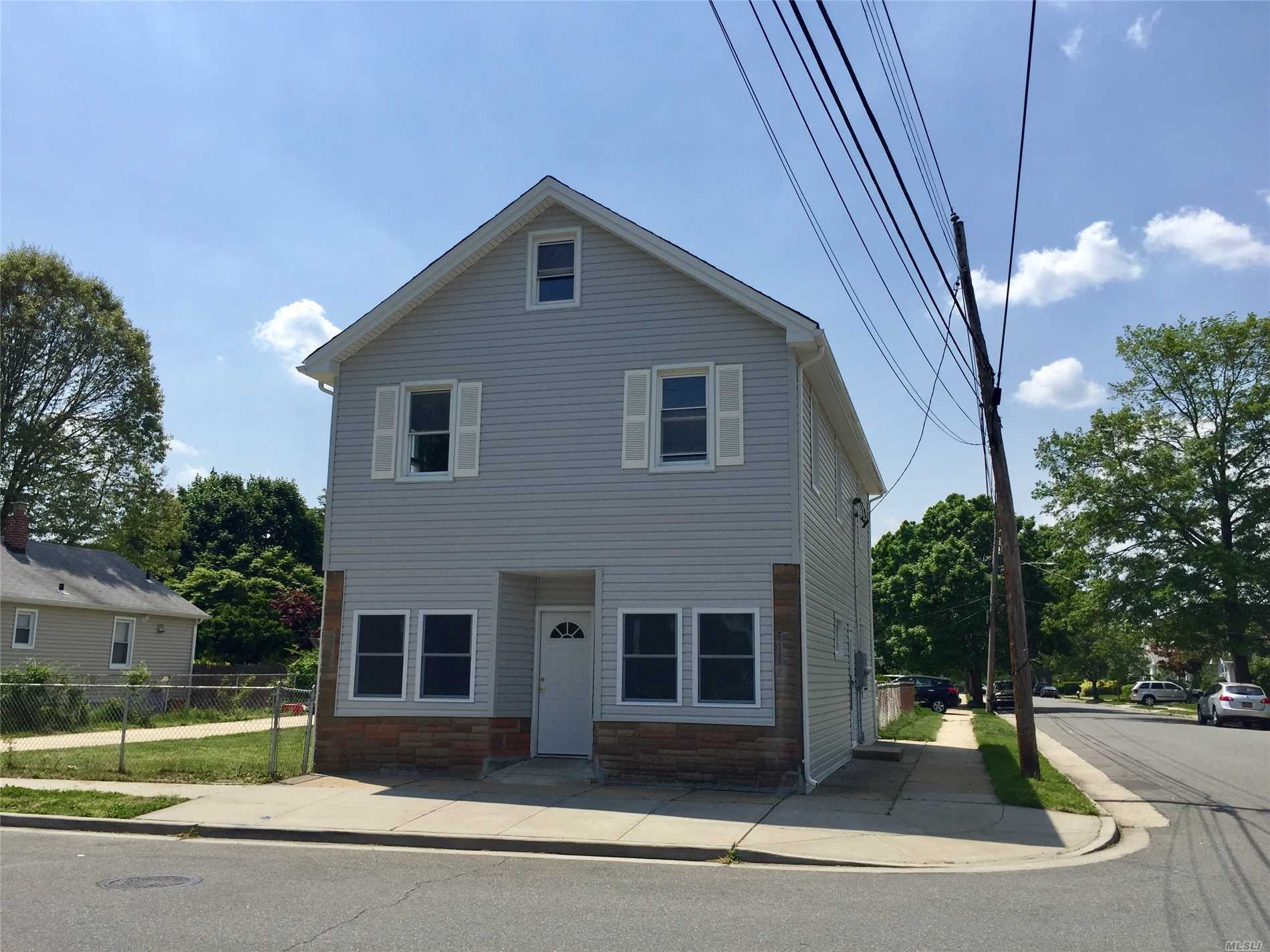 Legal 2 Owner Occupied Home In West Hempstead, Gas Heat, Gas Cooking,  3Bedrooms Over 3 Bedrooms, 2 Baths. Two Car Garage, Large Property, Hardwood Original Floors On 2nd Floor, Wood Laminate On Main Floor. New Roof And New Siding On House And Garage! Unfinished Basement. Separate Hot Water Tank. Drawings Are Pending For 1st Floor, But Should Have Soon. Work Will Be Completed Once Drawings Approved.