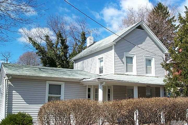 Great Opportunity! Ef, Lr, Eik, Bdrm, Full Bath. 2nd Floor: 2 Bdrms. Full Basement, Part Finished, Lg Finished Room, 3/4 Above Ground. Needs Tlc. Award Winning North Shore Schools.