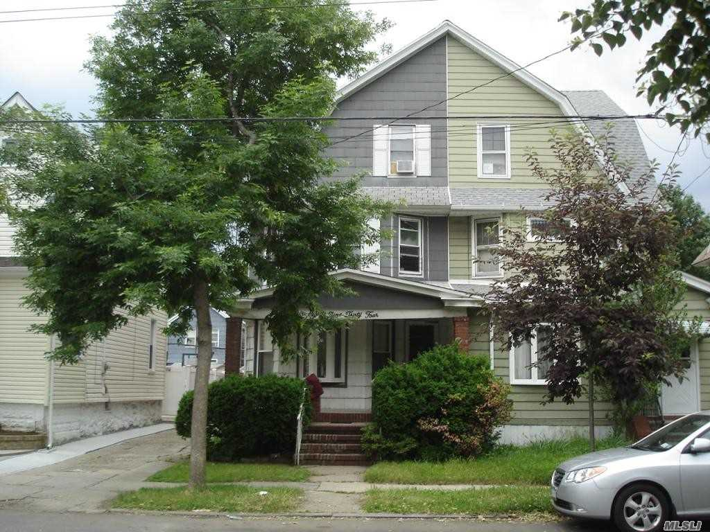 Location, Location, Location, Woodhaven Manor, 2 Family S/D Full Finished Bsmnt & Attic, Pty. Driveway 1 Car Garage, 3 Bedroom Apt. 1st Floor, 2 Bedroom Apt. 2nd Floor. Walking Distance To All Jamaica Ave Amenities & Transportation Train & Buses.