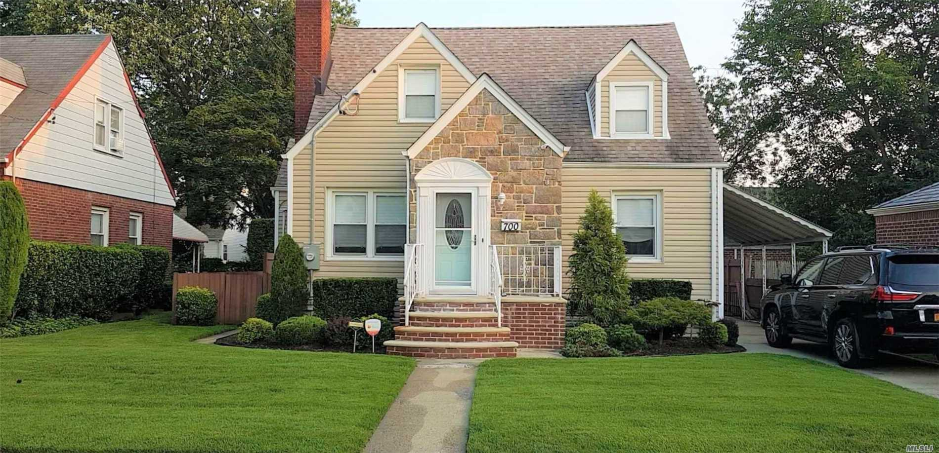 Beautifully Renovated 3 Br Cape Property. Conveniently And Quietly Lifestyle. Next To Stewart Manor Elementary School. 6 Mins Drive To H Frank Carey High School. 10 Mins Walk To New Hyde Park Port Jefferson Branch Lirr Station. 9 Mins Walk To Stewart Manor Hempstead Branch Lirr Station. Master Bedroom With Large Walk-In Closet, Beautiful Eik, Large Dining Room, Stone Fireplace, Wave Air Purification System, New Roof, New Boiler And Much More. Move In Ready. Bring Your Buyers!!!
