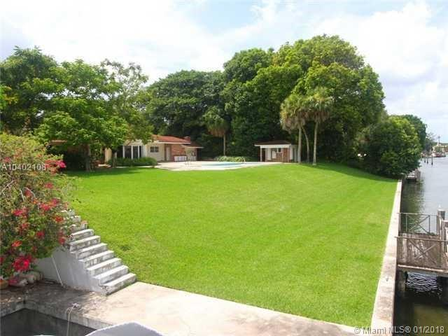 Amazing Land To Build Your Dream Home! Enjoy Life To The Fullest Along The Coral Cables Waterway. Great<Br />Opportunity To Own This Wonderful 7 Bedroom, 8 1/2 Bathroom Estate With A Fabulous South Gables Location.<Br />Spacious, Light-Filled Rooms Reveal Marvelous Water Views; High Ceilings, Formal Living Room With Fireplace, <Br />Dining Room, Library And Den. The 1.3 Acre Property Boasts Beautiful Gardens, 163 Feet Of Waterfront, A 31' X<Br />18' Boat Slip, A Boat House And Only One Bridge Between You And The Open Bay!