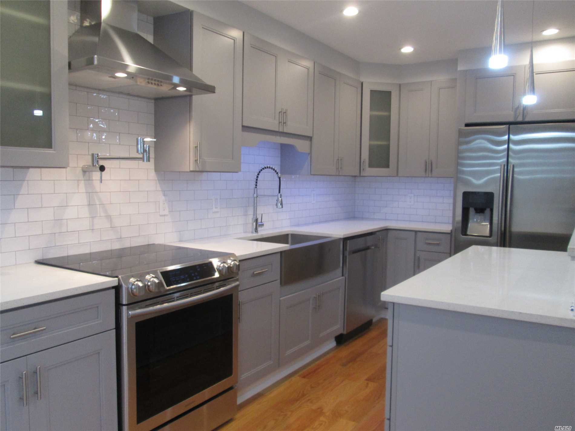 This Completely Renovated 4 Br 2 Bath Exp Cape Boasts A Gourmet Kitchen W/ Ss Appliances, Quartz Counter Tops & Top Line Appliances, Mbr En Suite W/ Spa Shower, Full Finished Basement/Play Room. Private Corner Property W/ Det Garage. Energy Efficient Split Heat/Ac Systems. Don't Miss This Golden Opportunity To Live In Renowned Plainview/Old Bethpage Sd!