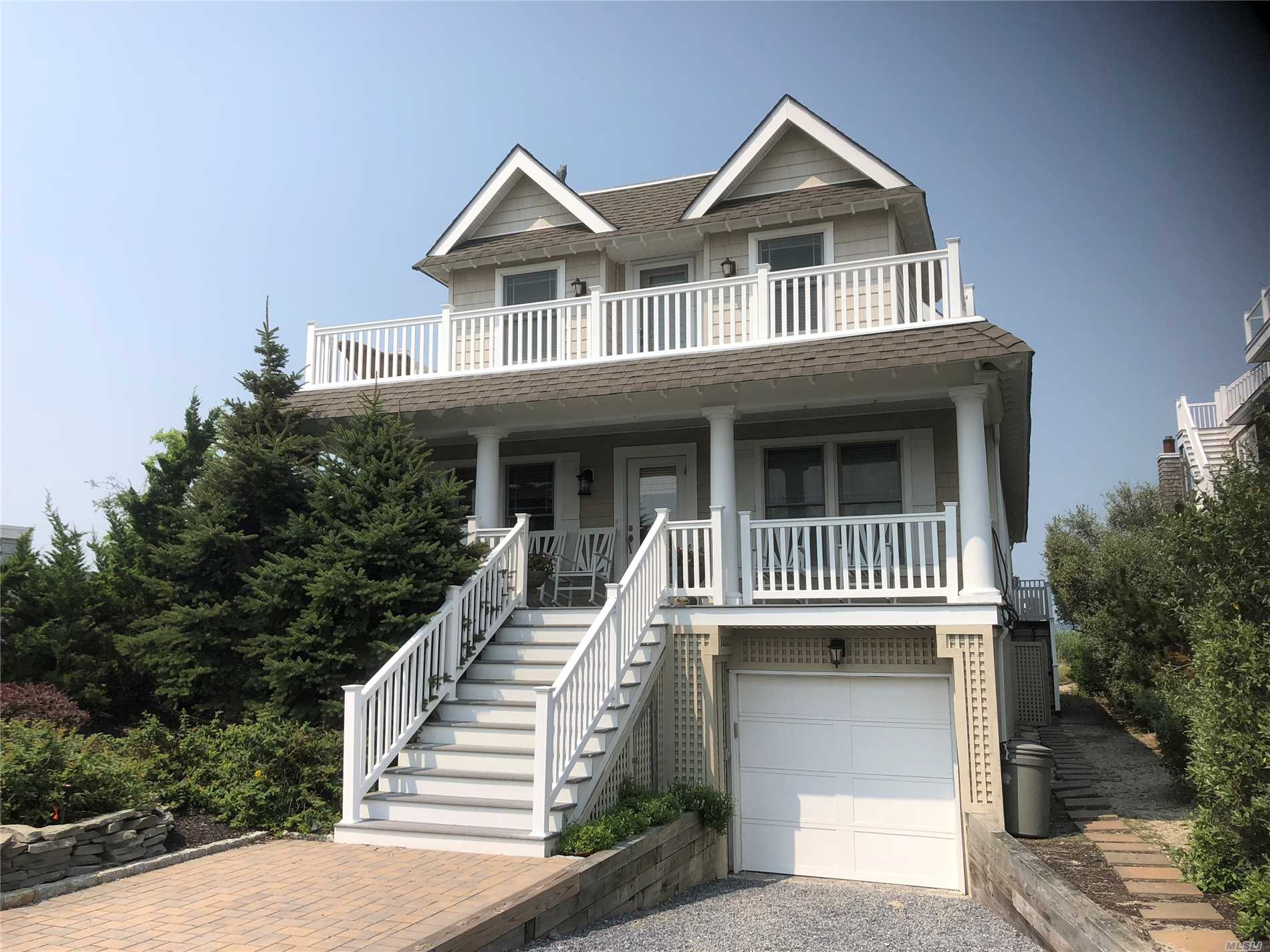 Beautifully Finished Move In Bayfront Dune Road Home With All The Finishes. Fabulous Kitchen, Huge Lr/Dr Great Room With Fireplace. First Floor Bedroom Plus Second Floor Large Luxurious Master Suite. Full Size In Deck Gunite Heated Pool Surrounded By Huge Trex Deck. Roof Top Deck. Spectacular Water Views From Everywhere