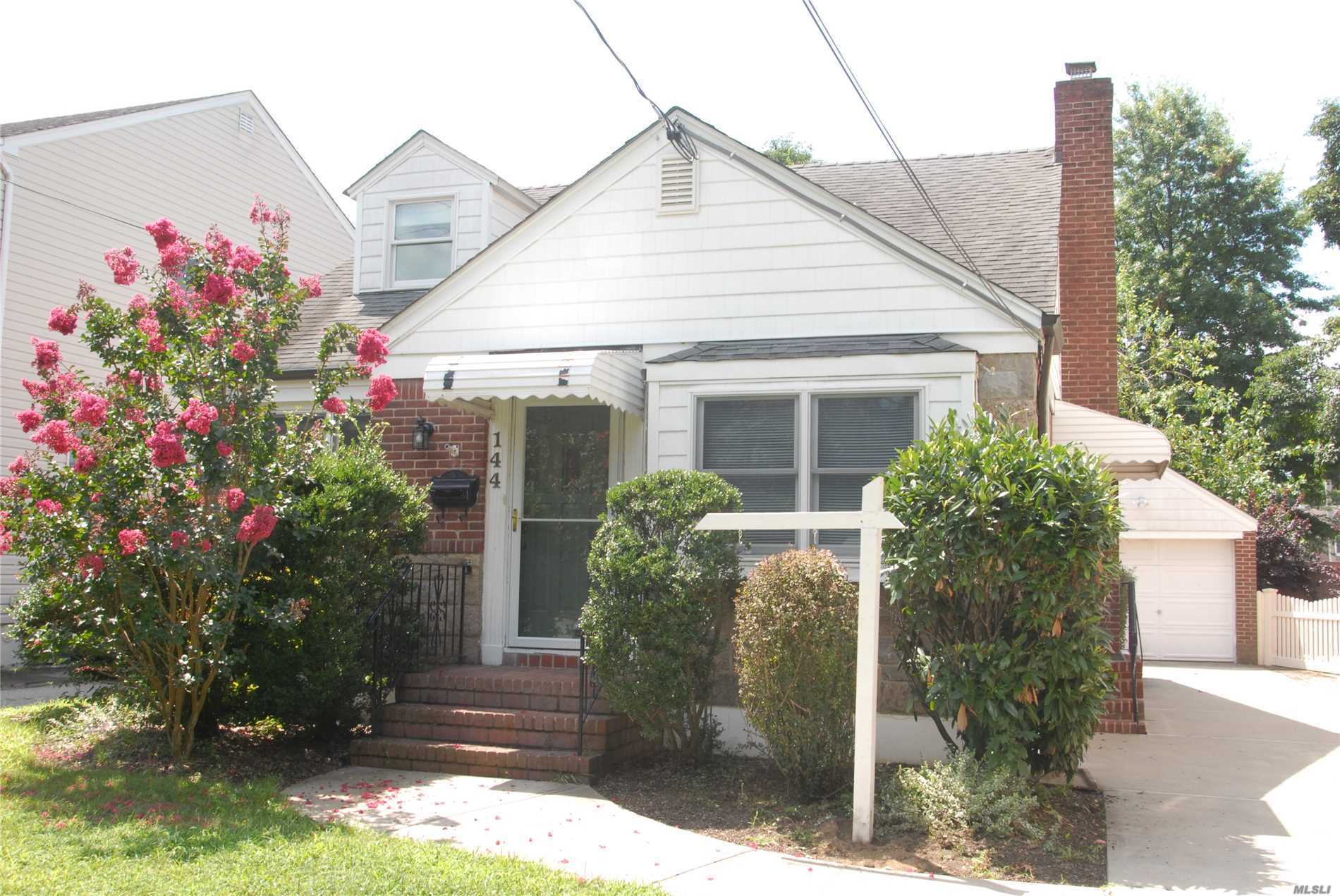 Spacious Cape In Floral Park Village-Move Right In. Beautiful Hardwood Floors Throughout, Lots Of Windows Which Makes Home Very Bright. Close To L.I.R.R. And Floral Park Bird Sanctuary. Kitchen And First Floor Bathroom Has Been Renovated A Few Years Back. Huge Basement With O.S.E.