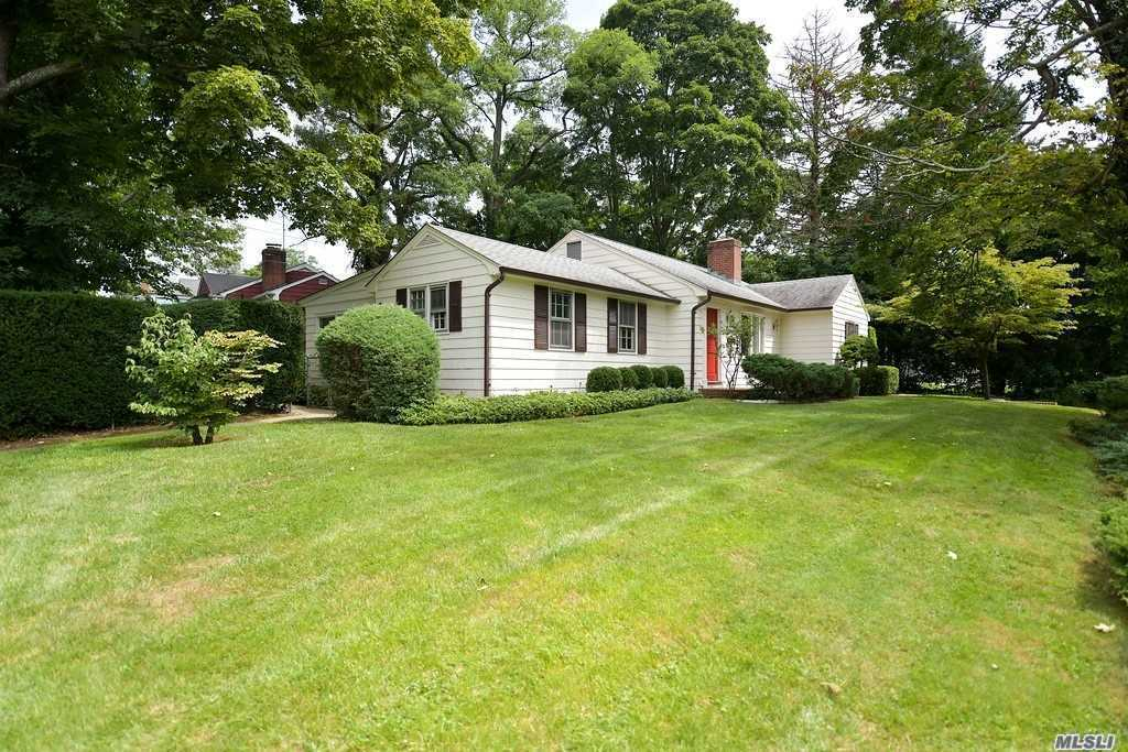 Absolute Charmer In North Syosset! This Pristine Ranch Is Convenient To Railroad And Shopping! Large Entertaining Rooms, Formal Living Room With Wood Burning Fireplace, Formal Dining Room With Built In Shelving,  Hardwood Flooring, Newly Painted, Light & Bright Back Sunroom, Large Full Basement! Cac, Detached Garage!