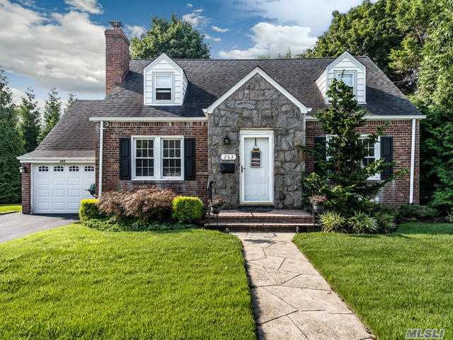 A Custom Built Cape Style Home With Hardwood Floors, Wood Burning Fireplace In The Living Room, 3/4 Bedrooms Full Basement With An Attached Garage, Oversized Property A Must See !!!!