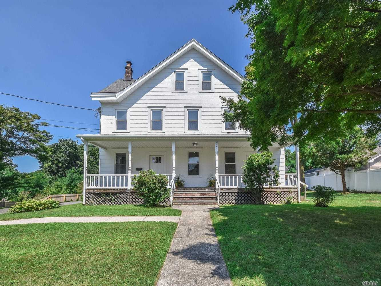 New & Clean...Total Renovation Of This Charming 2 Family Home. Room Sizes Are Very Generous. Washer & Dryer In Apartment,  Central Air Conditioning, Parking For 2 Cars. Close To The Sea Cliff Stop On The Lirr And To Stores!