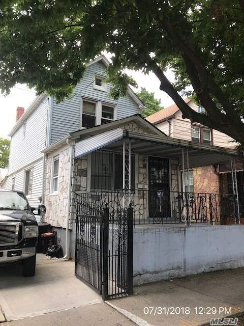 This Priced-To-Sell 3 Bedroom, 1 Bath Fully Detached Home In S. Ozone Park Is Ready For It's New Owner. This Reo Is Being Sold As-Is With No Representations Or Warranties. Buyer To Pay Seller's Transfer Tax (City And State).