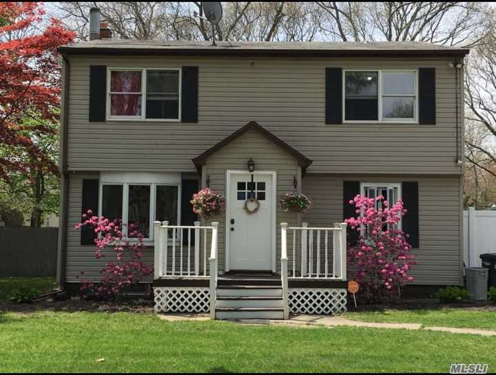 Charming Updated Colonial Situated On 3/4 Acre Of Private Park Like Grounds. Bright And Open Floor Plan With Elegant Details From Floor To Ceiling- Crown Molding, Recessed Lighting, Wood & Tiled Floors, Soaring Ceilings, Lots Of Natural Light. Living Room With Wood Stove And Stone Surround, Gorgeous Kitchen With An Abundance Of Cabinetry, Center Island W Seating, Gas Cooking - Open To Formal Dining Rm. Elegant Baths. Great Bedroom Space. Lots Of Closets! Convenient To All!!