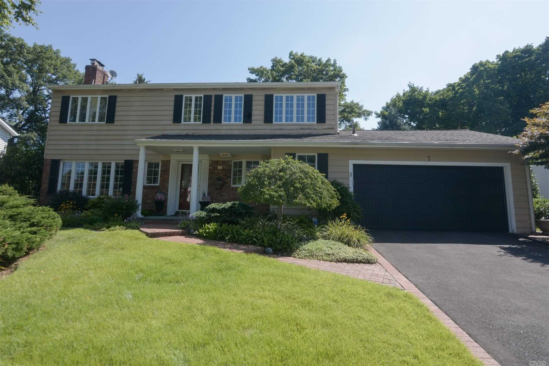 Beautiful Center Hall Colonial In Desirable Forest Estates Pool Community! Gourmet Eik, Living Room With Fireplace, Formal Dining Room, Gleaming Hardwood Floors, Full Finished Basement, Large Master Suite, Situated On Flat Beautifully Landscaped Property With A Fenced In Backyard. A Must See!
