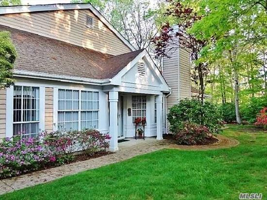Greenport Model, (Largest Of Models, Approx.1635 Int. Sqft +Garage), Located On A Premium, Serene, Park-Like, And Rare Over-Sized Lot (Approx.11, 387 Sqft) In The Beautiful Active 55+ Community Of Leisure Glen. Open Floor Plan W/Vaulted Ceilings, Living Rm W/Gas Fireplace, Dining Rm, Updated Kitchen, Master Suite/Bath/Walk-In Closet, Den, Second Bedroom, Bath, Laundry Rm, Newer Central Air, Hot Water Heater, & Furnace, 2-Car Driveway, 24 Hour Guarded Gatehouse, Clubhouse, Pool, & More...