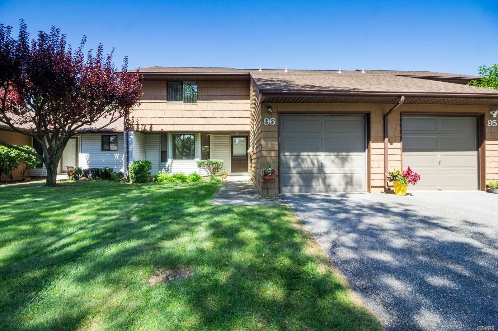Immaculate Light &Bright 2 Br, 2.5 Bath W/Large Eik, Master Suite W/Tub & Wic, Add'l Br W/Wic, Hi Hats, 1 Car Gar W/Pull Down Attic & Large Window, Private Cul De Sac Location, Private Patio, Tons Of Storage & Closets. Roof Updated. Fantastic Amenities.Convenient To Highways, Public Trans & Shopping. Mostly Original But Very Well Maintained, Make This Your Own! Commack Schools!