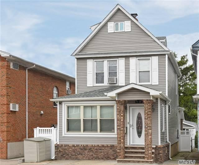 Beautiful Newly Renovated 3 Br/2 Bth Colonial. Total Newly Updated Renovation Inside And Outside Less Than 5 Years Ago Including Roof, Siding, Insulation, Windows, Floor, Boiler, Newly Installed Electric 220 Amps Panels. Maintenance Free Backyard With Detached Bonus Recreation Room With Ac/Heat. 3 Heating Zones, Less Than A Mile Away From Elementary School Middle School. Less Than Half Block Away From Q25 Bus Stop, R4-1 Zoning District