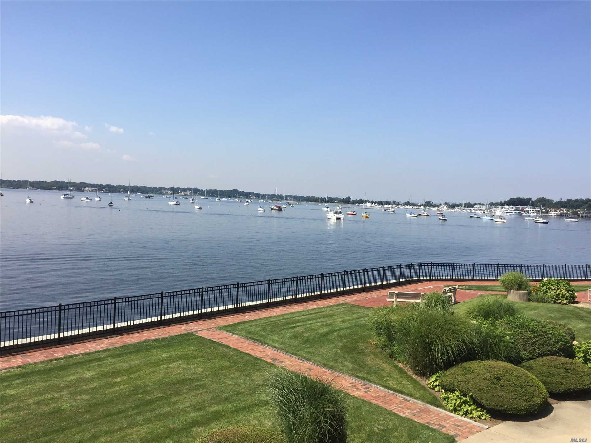 Prime Waterfront Location! Spectacular Water Views From Terrace & Every Room. Larger One Bedroom, Updated Eik Opens To Terrace W/Electric Awning. All Hw Fls. Community Offers Waterfront Pool/Kiddie Pool, Certified Lifeguards, Private Entrance W/Security, Resident Superintendent, Meticulous Grounds & Walking Paths Along The Water. Mooring Rights On Manhasset Bay, Kayak Storage & Magnificent Sunsets! Only 35 Min To Nyc By Train & Nearby Shopping. Maint Includes:Taxes, Heat, Water, Insurance, Pkg