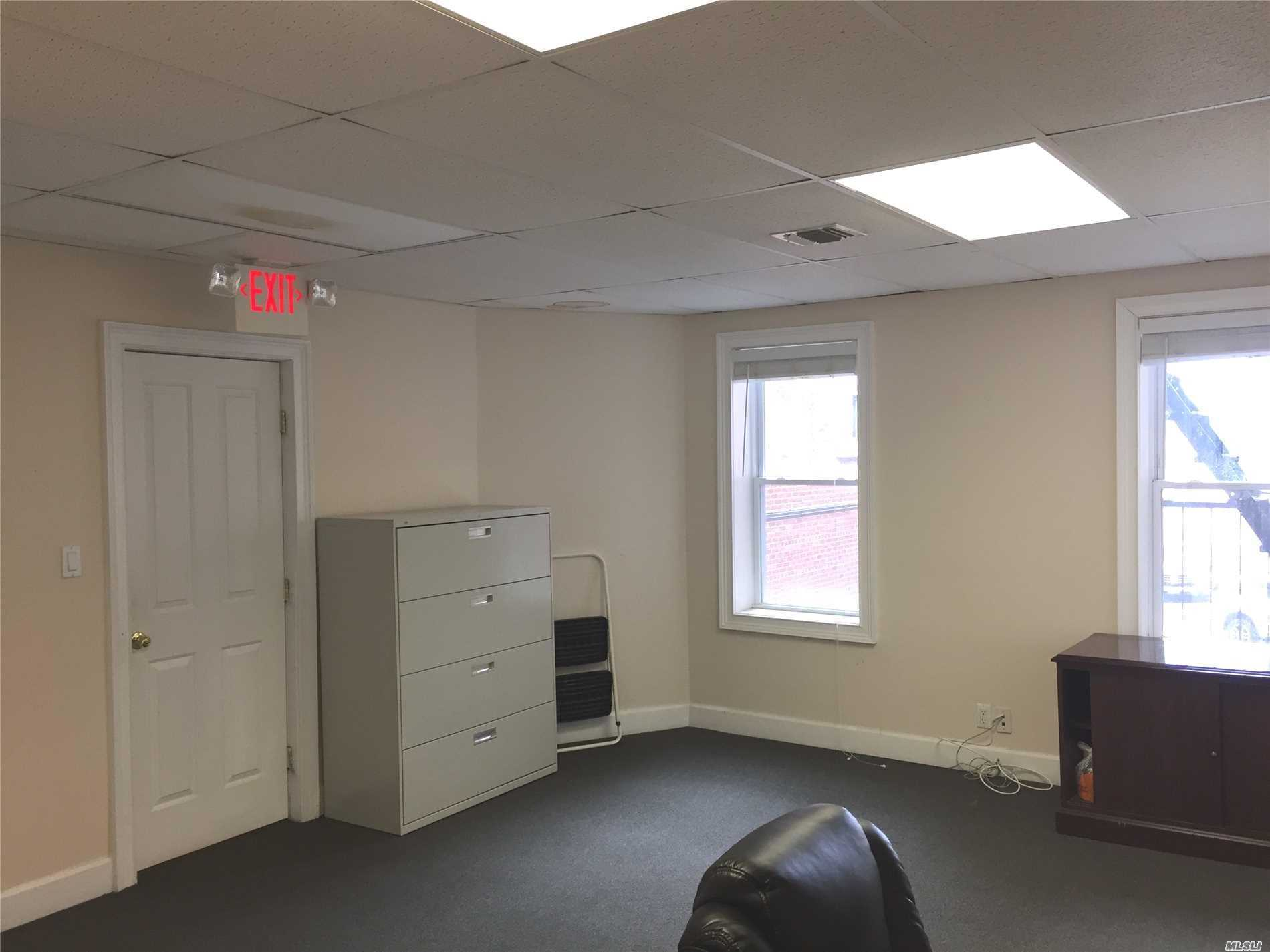 2nd Story Office Space For Lease Great Location 1/2 Block From Lirr. In Heart Of Village. Private Entrance, Quiet, Close To Parking. Available Space:: 797Sf Consisting Of 3 Offices