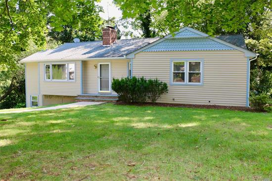 Diamond In The Rough! Fabulous Centerport Location In Award Winning School District. Large Spacious Rooms, Great Layout And Great Bones. Ready For Your Personal Touches And Sweat Equity! Similar Neighborhood Homes Selling For High $600'S. Updated Roof, Heating, Hot Water, Electric And Central Air,  Hardwood Floors Under Carpet, Unlimited Potential. Don't Miss This Fantastic Opportunity!!! Incredible New Price!!