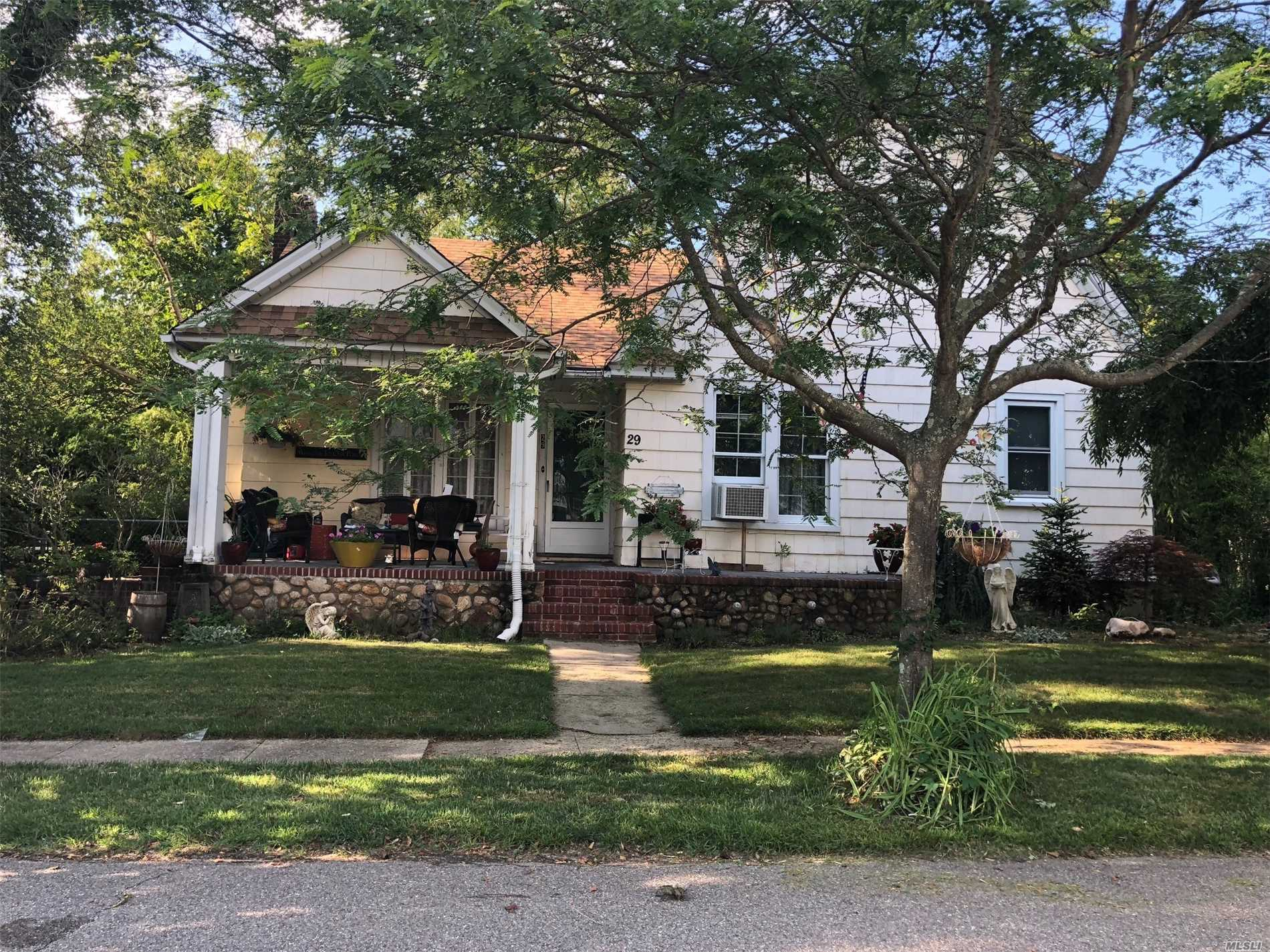 Tons Of Potential In This Cute Cape With Lots Of Classic Touches! 4 Bedrooms, 2 Full Bathrooms, Eat In Kitchen, Formal Dining Room, Living Room With High Ceilings, And Full Basement. With Some Tlc This House Will Make A Beautiful Home.