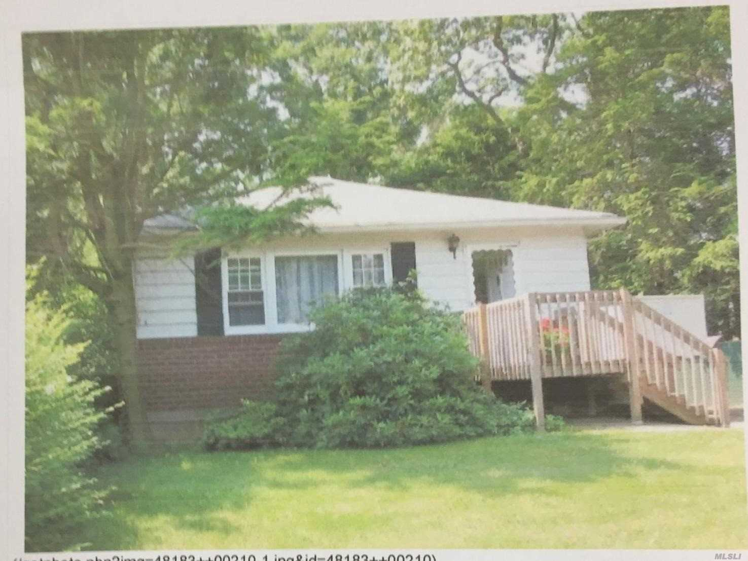 Great Price! ! Make This Great Ranch Your Home In North Massapequa, Farmingdale Schools.. Three Bedrooms, One Full Bath, Large Basement Perfect For Den, Playroom And Parties.. Sold As Is.