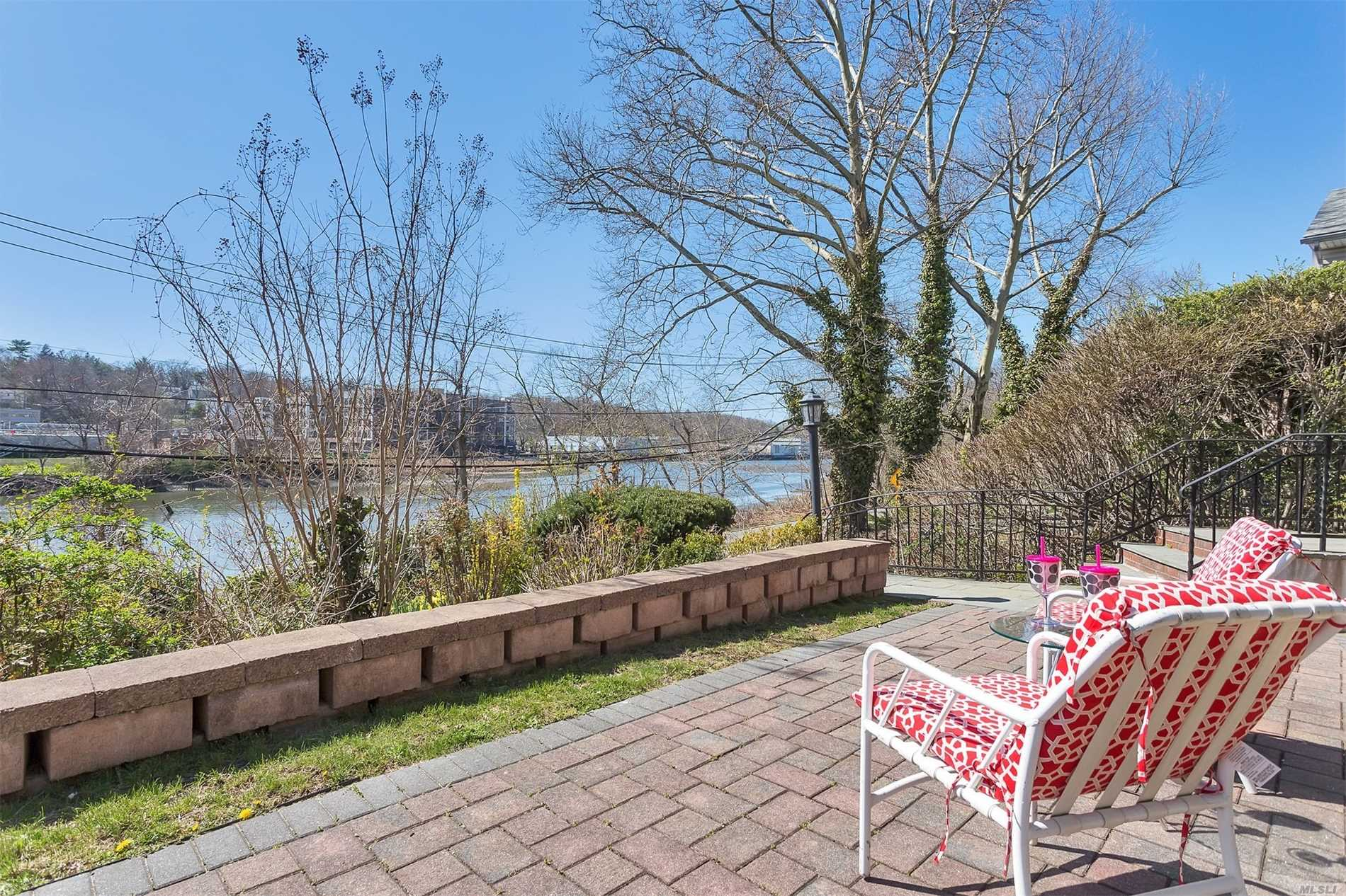Waterfront Bay Views - Large Waterfront Stone Patio, Entry To Large Lr W/Fp, Fdr, Eik W/Granite Counters, Lower Level Family Rm & Full Bath. 2nd Level Mbr, Mbth, 2 Brs (Both Br's With Waterview), Full Bath. Finished Basement W/Rec Rm, Office, Laundry, Boiler Rm, Closets, 1Car-Plus Garage. New Rear/Side/ Retaining Wall. New Rear/Front Pavers.Entire House New Paint, Wood Floors Refinished, New Alarm System, Central Vaccume, Inground Sprinklers, Central Ac.Rear Private Lovely Garden.