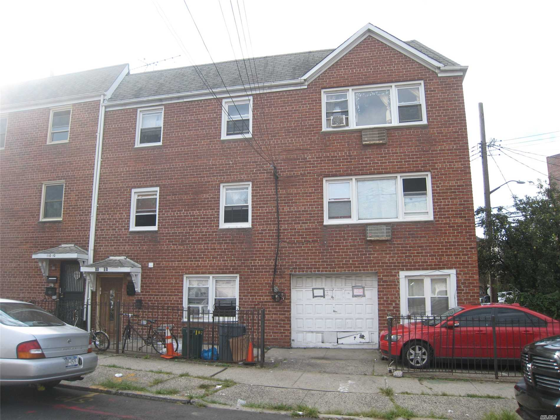 Brick 3 Family Corner Property With Garage And Private Parking. 3 Bedrooms Over 3 Bedrooms Over 1 Bedroom Unit. Sold In As-Is Condition With Existing Tenants.