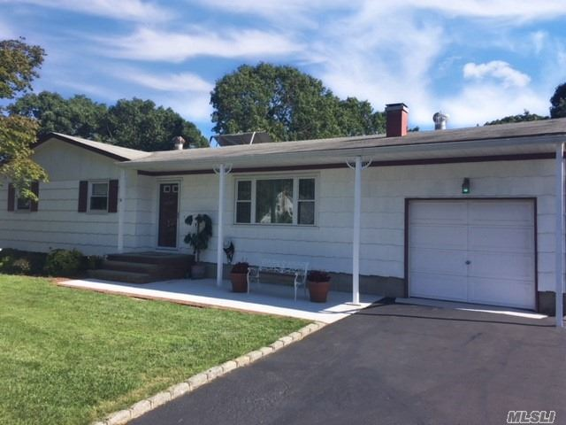 Nice Ranch W/Updates. Features Front & Rear Patios, Lr W/Fireplace, Hw Floors, New Interior Plumbing, Replacement Windows, New Appliances, Peerless Boiler, Solar Panels And A Large Full Basement Perfect For Finishing. Large Driveway Suitable For 6 Cars. On A Large Fully Fenced Property And Located On A Quiet Street Close To All. Nothing To Do But Move Right In.
