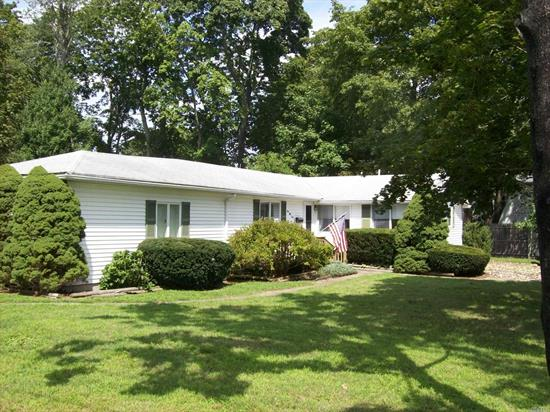 Expanded Ranch Includes 4 Bedrooms, Eik, L/R, D/R, 1 Full Bath, Cac, Part Basement. Large Corner Lot In Smithtown School District. Easy Access To Highways And Shopping. Low Taxes! Home Needs Tlc, Huge Potential! Nice Yard For Outdoor Fun All Season Long. Call For Appointment.