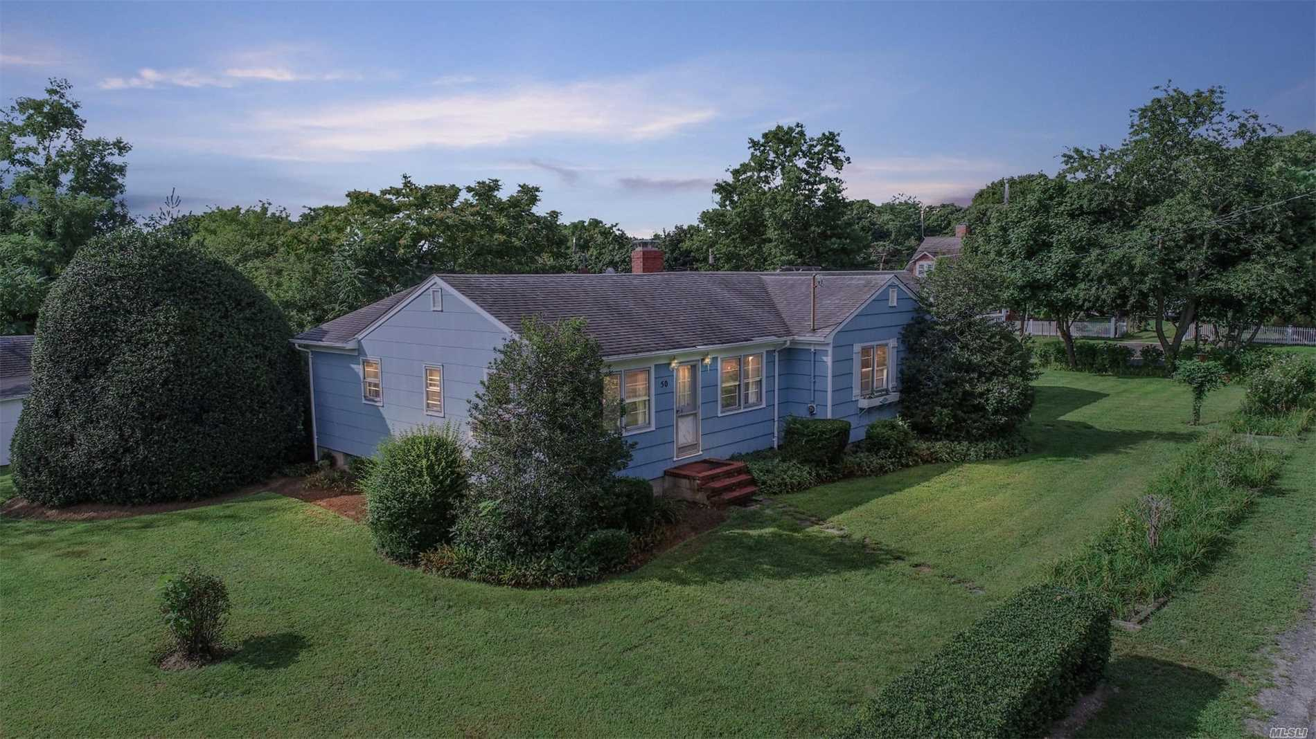 Unique Opportunity 4Br, 2Ba Ranch With Lr, Eik, Sun Room, Family Room With F/P, Full Bsmnt., And A 2Br, 1Ba, Rental Income Cottage. Located 700' From Beautiful Bay Beach, Deeded Creek Access As Well At The End Of The Street