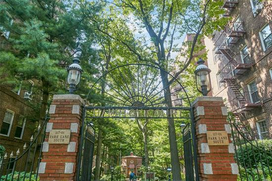 Large, Pre-War Two Bedrooms, One Bath In Park-Like Setting With Views Of Tall Oaks. Pet-Friendly, Private Security, Hardwood Floors, Eat--In Kitchen. Short Distance To Express Subway, Lirr Station, Shopping And Forest Park.