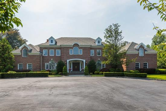 Fabulous 7000 Sq Ft Brick Colonial On One Of The Most Desirable Streets In Old Westbury. Built In 2004 On Over 4 Beautiful Acres With A Heated Ig Pool.