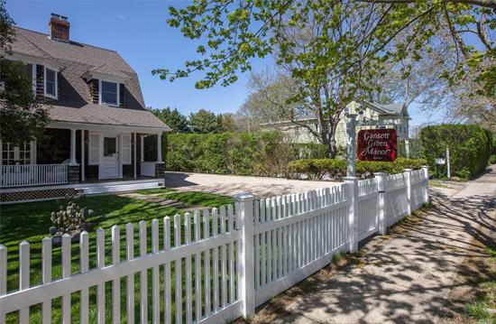 This Beautiful, Iconic Hamptons Inn / Hotel Offers Updated Yet Unspoiled Country Elegance In Prestigious Amagansett.Centrally Located Yet Secluded, W/Manicured Grounds & Adjacent Farmland.Fifteen Accommodations, Including A Private Farmhouse.This Popular & Profitable Inn And Wedding Venue Is A Perfect Investment.Walk To Cafes & Shops, Close To Ocean Beaches & Rr;Jitney Stops In Front.