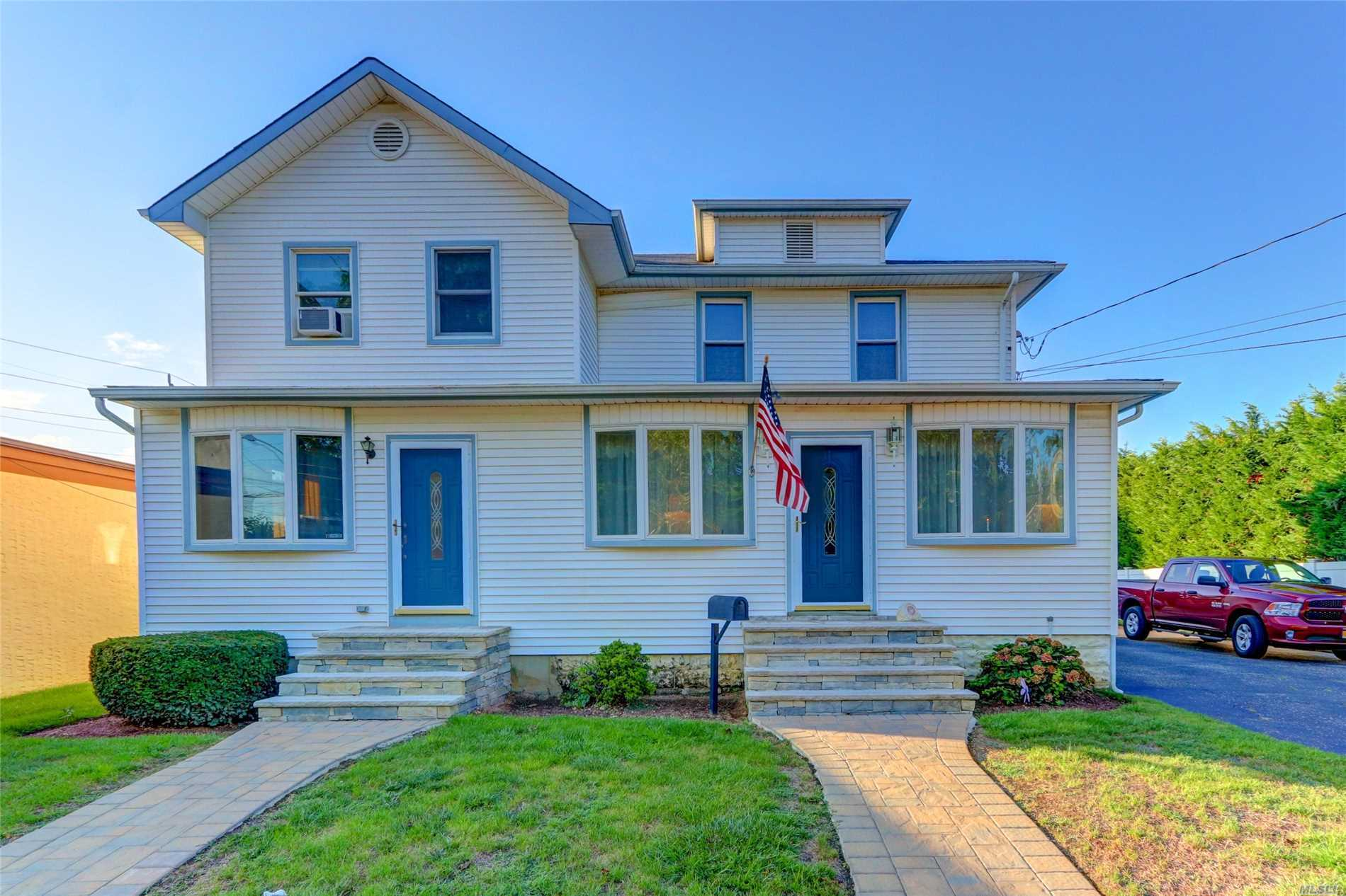 This Beautifully Maintained Large Colonial Is Situated On A 75 X 100 Lot And Close To The Lirr. Inside You Will Find A Large Living Room, Formal Dining Room, And Large Kitchen W/ Room For A Table, Den, Bedroom, And Full Bath. Upstairs Includes 4 Generously Sized Bedrooms, Master Bedroom With Walk In Closet,  Full Bath, And Office. Outside Features Attractive Landscaping, 6 Car Driveway, 2 Car Garage, And Large Deck.