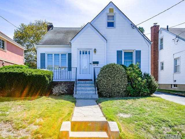 Location! Location! Great Cape Located In Desirable New Hyde Park! 3 Bedroom, 1 Full Bath, Eik, Full Basement, Beautiful Hardwood Floors Under Carpets, Quiet Mid Block Location, Private Yard. One Block To Elementary School, Close To Lirr. Don't Miss Out On This Fantastic Opportunity!!