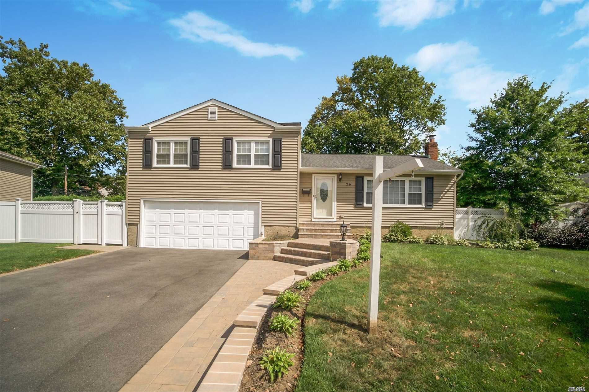 Beautiful Split Level Home Offering Mbr With Full Bath, Plus 2/3 Bedrooms, Full Bath, Fdr, Vaulted Ceiling In Living Room, High Hats, Updated Kitchen, Plenty Of Storage, Large Private Backyard And Deck, Fireplace, Ceiling Fans, Quiet Block But Close To Shopping And Expressways
