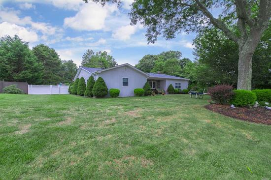 Immaculate 3 Bedroom Ranch In The Heart Of Center Moriches. Only The Highest Quality Of Materials Were Used To Update This Lovely Home. A Great Floor Plan Is Perfect For Entertaining With Backyard Resort Style Living. A Salt Water Pool, Pool House And Community Deeded Water Access Just A Short Distance Away Make This Home A Perfect Quiet Retreat. Enjoy The Comfort Of Central Air, Radiant Heat, Anderson Windows And Doors, New Roof, New Pool Liner, New Oil Tank. Too Much To List...Must See!!