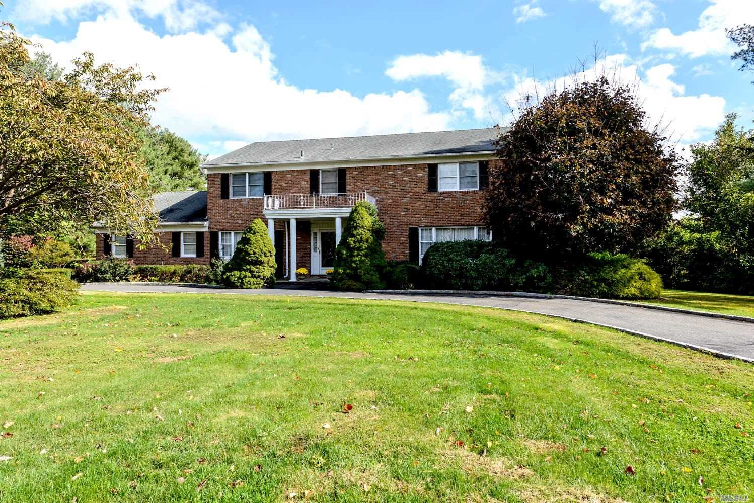 One Of Old Brookville's Sought After Locations! This 5 Bedroom 3.5 Bath Colonial Is Meticulously Maintained And Set On Level 2 Acres. The Home Offers Spacious Living Spaces, Wood Floors Throughout And Room To Grow. The Serene And Private Cul-De-Sac Setting Is Convenient To Schools, Transportation And Shopping. Low Taxes!