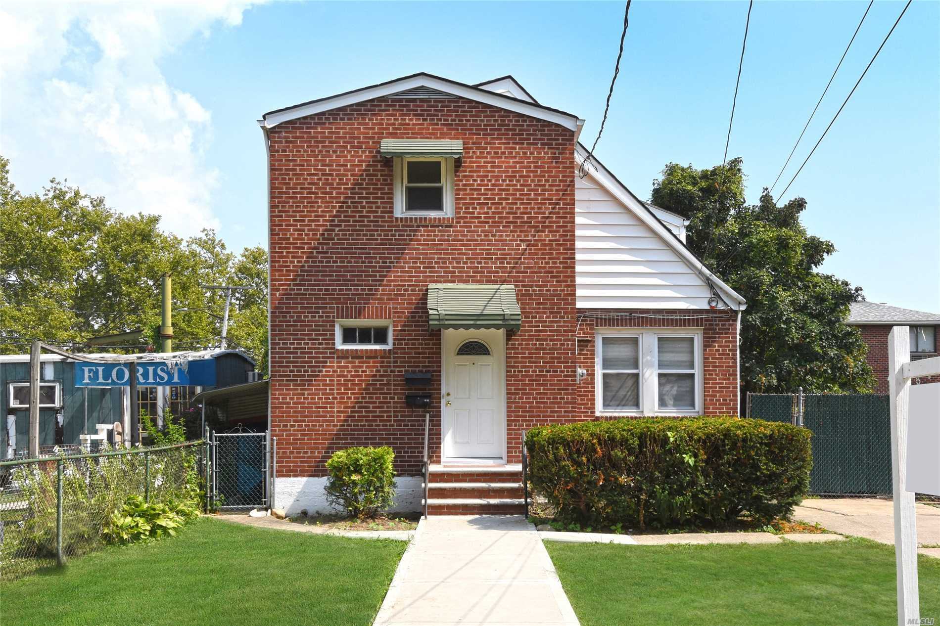 Just Arrived- 2-Family Home On Over Sized R3-2 Zoning Corner Property In Fresh Meadows. Oversized Property Allows For Property Subdivision And 2 Family House Can Be Built- Current Business Rental On Land. Convenient To Shopping, Transportation. Easy Access To Lie. Survey Available Upon Request.