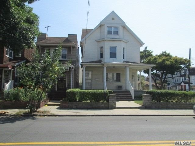 Don't Miss This Majestic Looking Victorian Set On A Beautiful Manicured Corner Lot With Large Front Porch To Sit Ad Relax It Offers 3 Apts And An Attic. Full Fin. Bsmnt W/Family Rm And Full Bath. Professionally Landscaped, In Ground Sprinklers And A 4 Car Garage. Backyard Has Cement Patio W/Overhang And Shed. Wonderful Income Producing Property. Close To Subways And Buses.