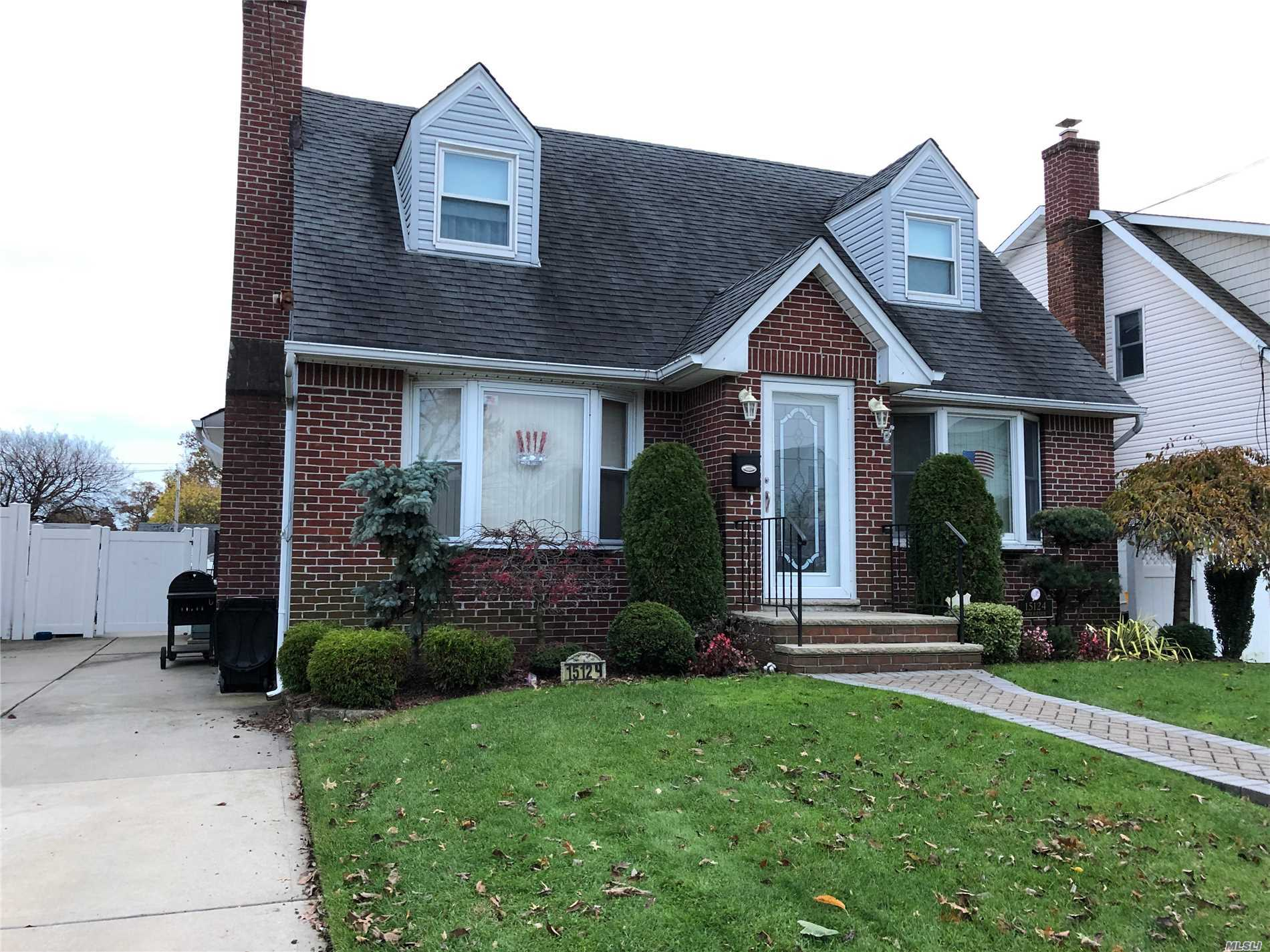 Expanded 4 Br, 3 Full Bath Cape On Quiet Block In North Whitestone. Meticulously Cared For And Updated With Quality Materials. Granite And Stainless Steel Kit W Radiant Heat Ceramic Tiled Fl. Lr W Wbfpl, Den Can Be 5 Br, 2 Fl: Spacious Layout With Large Mbr, 2 Br Is Mbr Sized, And 3 Br Can Be 2 Rooms. All New Windows, French Drain, Gorgeous Yard W/ 16 X 30 Heated In Ground Saltwater Pool, Pavers, Double Fencing. Cac, Gas Heat, Security System
