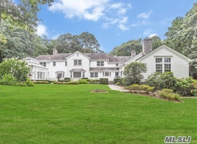 Magnificent 1 Of A Kind Secluded, Private & Serene Hilltop Home. Make This Expanded 9600 Sf Colonial Your Own. It Boasts 6 Lrge Bdrms, 4.5 Bths, Sitting Rms, 5 Fireplaces, 2 Studies, Gallery Library, Fdr,  Eik, Gas Cooking, Hardwood Floors Throughout, Extraordinary Solarium/Conservatory With Radiant Heat Built In York England & Assembled In The Home, Large Pottery Rm, 4 Car Garage, Generator Hook Up, 3 Magnificent Fish Ponds On 2.58 Acres Of Breath Taking Greenery.