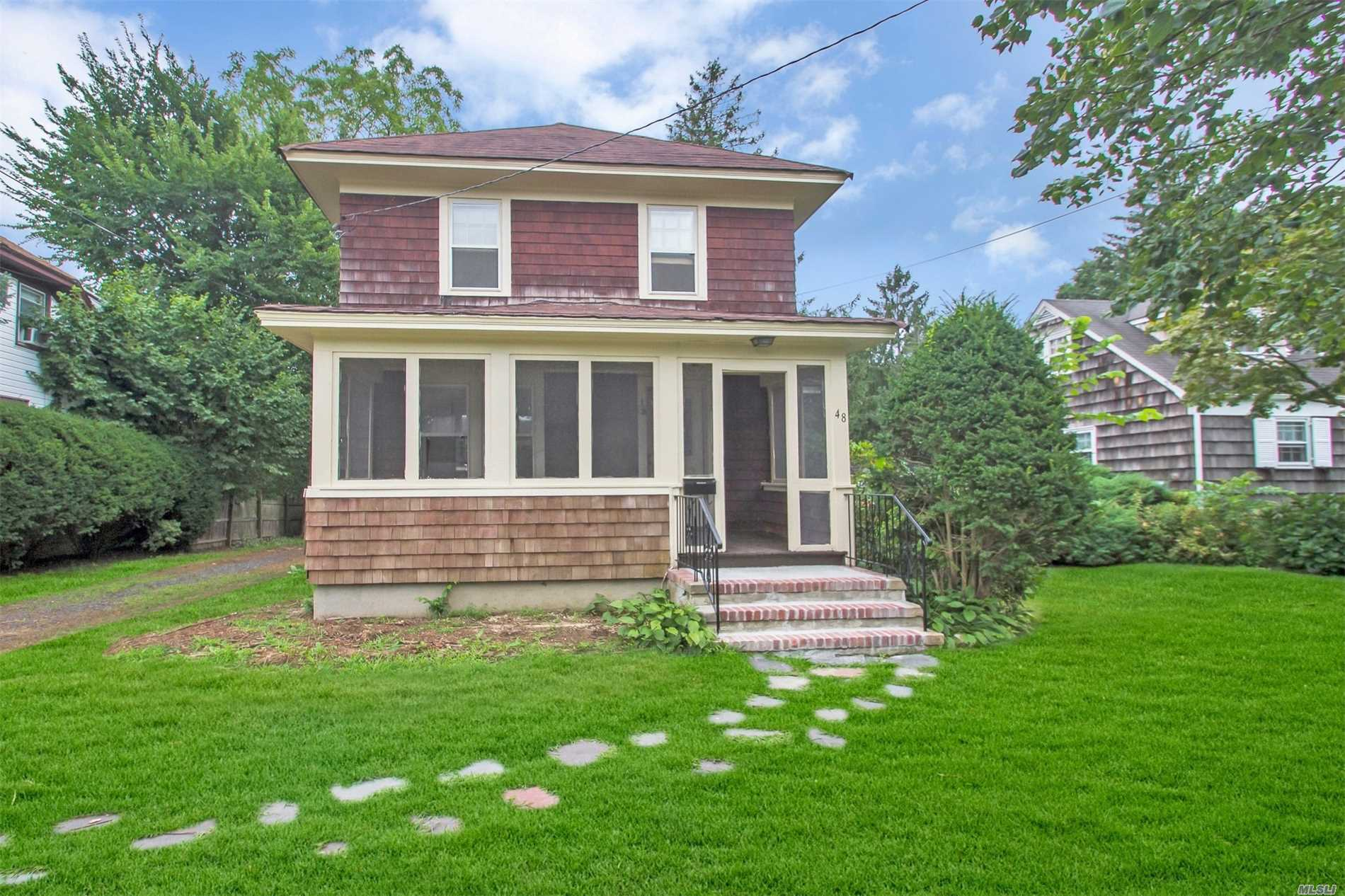 3 Bedroom Colonial In Very Desirable Presidential Section Of Babylon Village.48 Lincoln St Boasts Enclosed Front Porch, Hardwood Floors, Door Mouldings, Cast Iron Radiators, House Equipped With Natural Gas, Large Bedrooms, Great Yard Space. Full Basement, Large 1.5 Car Garage, And Large Granny Attic