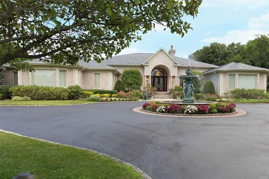 A Spectacular 6300 Sq Ft Custom Built Ranch Style Home On 5 Level And Private Acres. Room For Pool And More.Soaring 18'Ceilings Are Highlighted By Incredible Moldings And Trim. Bright And Inviting With Oversized Windows And An Open Floor Plan. Spacious Rooms And Many Wonderful Amenities Including Full House Air Filtration System, Craftsmanship Throughout With Custom Cabinetry, Crestron System In Fr And Whole House Generator. Propane For Cooking.And 4, 000 Sq Ft Stone Patio With Built In Barbecue