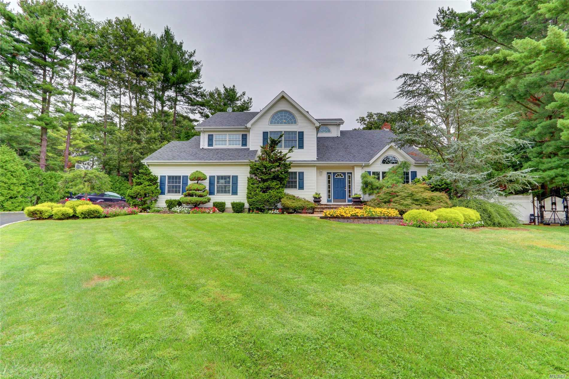 New To Market Bright & Sunny Beautiful Victorian Home Tucked Away In Quiet Culdesac, High End Updtd Designer Eik W/ Ss Appls, Island & Farm Sink Over Looking Private .50 Acre Featuring Htd. Salt Water 20X40 Igp W/Bluestone Patio, Large Trex Deck For Entertaining, , Hw Flrs, Cac, Crown Mldgs Throughout, Palladium Windows, Master Suite W/Wic & Large Ba,  Side Entry Garage. Too Much To List Come & See - Won't Last!!!!