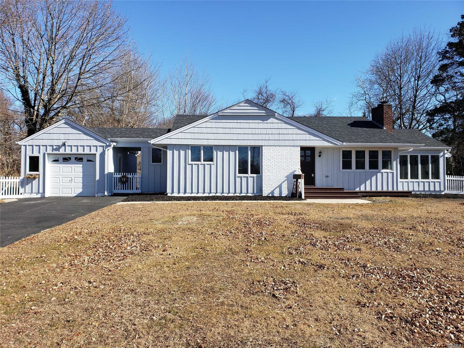 Renovated Home On An A Desirable Tree Lined Block In Sayville With Over An Half Acre Of Property.  Including New Roof, Bathrooms, Kitchen With Quartz Counter Top, Farm Sink And Breakfast Nook . Has Fireplace With Shiplap,  Hardwood Floors And Crown Molding. New Deck Off The Den And A Big Backyard For Entertaining!