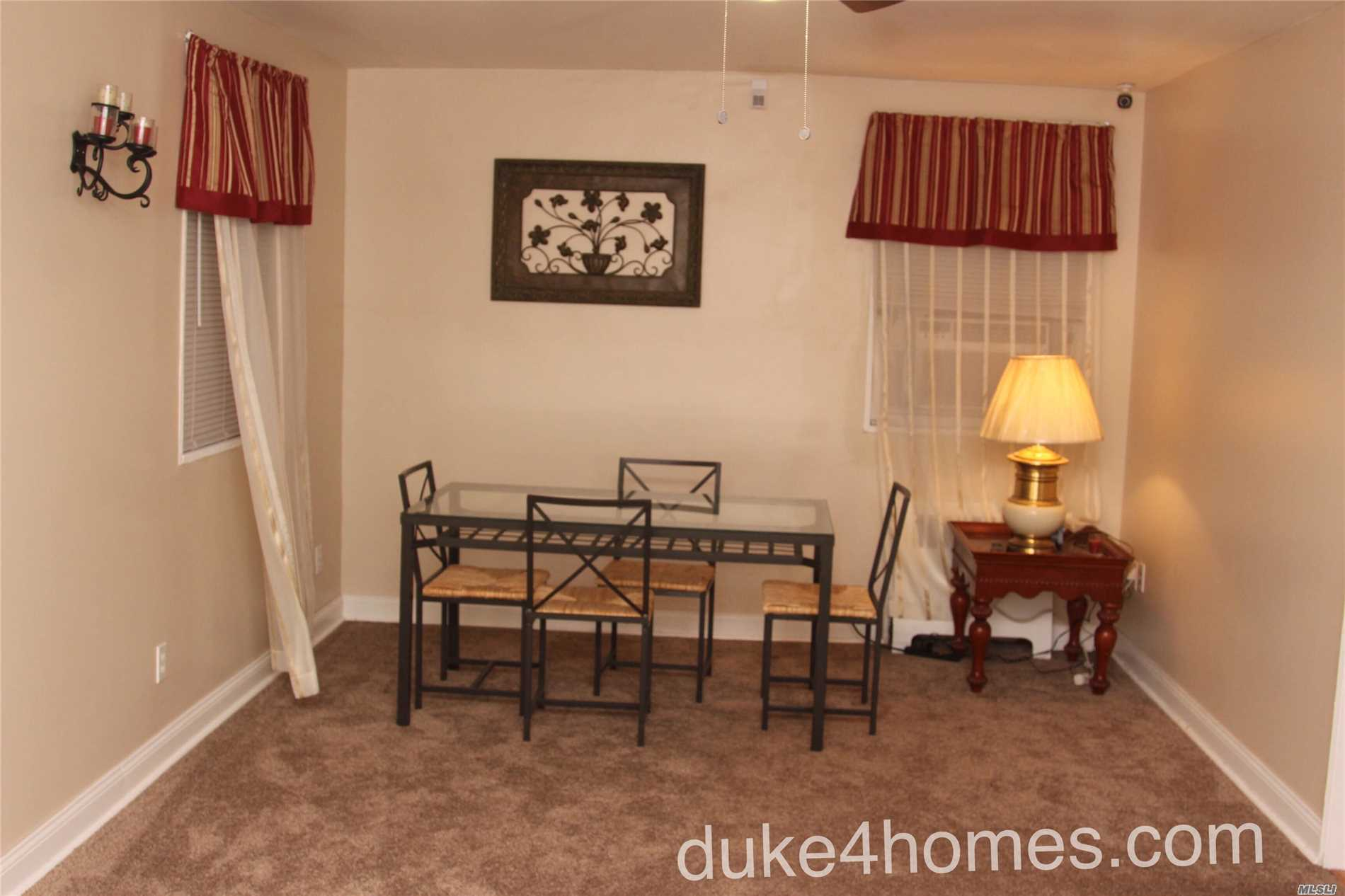 Spacious 1 Bedroom Coop Apt On The 2nd Fl With Updated Bathroom And Kitchen. Enter The Apt Into The Foyer And Up The Stairs To The Living Room And Dinning Area. There Are Several Closets And An Accessible Attic Space For More Storage. The Apt Comes Lots Of Extra Bonuses; 3 Flat Screen Wall Mounted Tvs, 2 Ceiling Fans, Hard Wire Security System, Alarm System And 2 Ac Units. The Apt Has Also Been Updated W/ New Electrical Wiring, Installation And Added Outlets. Make This Your New Home...