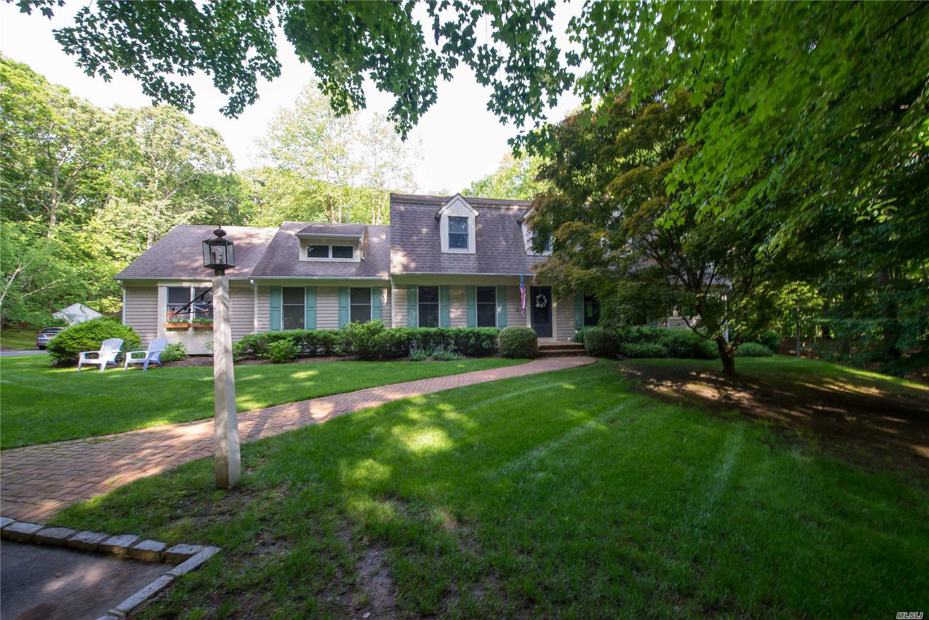 Beautiful Colonial At The End Of A Private Cul-De-Sac. 1.52 Of Beautifuly Landscaped Grounds. It Has A Heated In The Ground Pool W/Waterfall, Hot Tub, Slate Pstio With A Pergola.Chefs Kitchen With Double Ovens.Kitchen Aid Refig, Gas Stove, Granite Counter Tops. Beautiful 3 Seasons Sunroom With Screens, Wood Floors And So Much More!!
