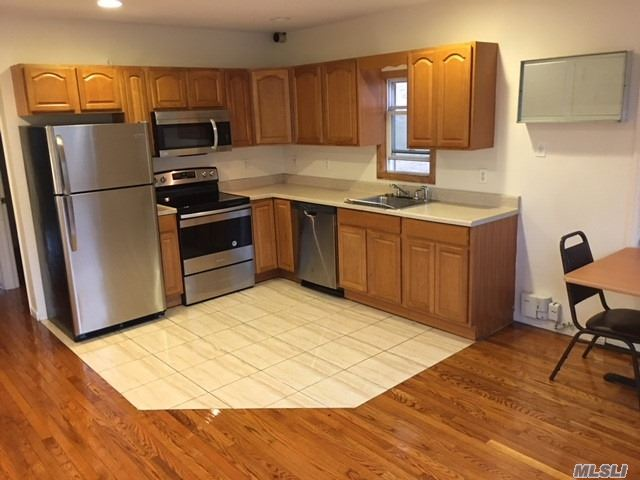 Fully Renovated Apartment, Brand New Stainless Steel Appliances, Laundry Hookup, Hardwood Floors Throughout Apt! Close To Shopping Centers, Places Or Worship And Schools. 5 Min To A Train And 2 Min To Lirr 2 Min To Nypd Precinct