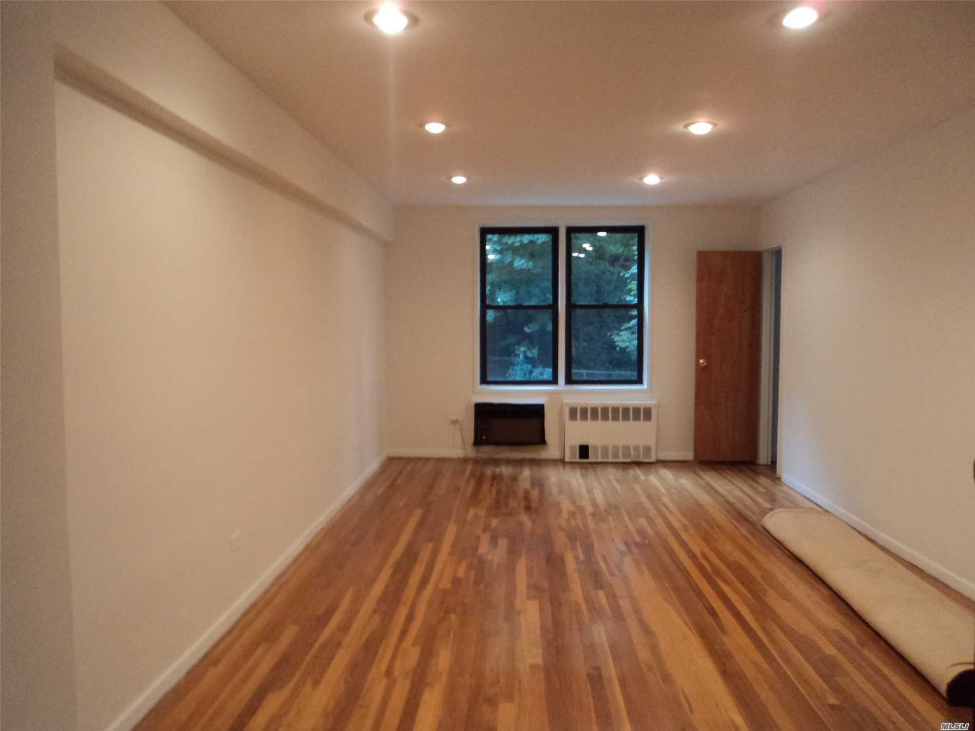 Jr. 4 With Large Living Rm, Dining Area, Kitchen With New Appliances . Hardwood Flrs Throughout. Large Master Bdrm, Sm Bdrm Or Office. Newly Painted, One Block From Lirr And Buses. Convenient To All Ps 98 , Jr Hs 67 And Cardoza Hs.. Sublet After 2 Years.