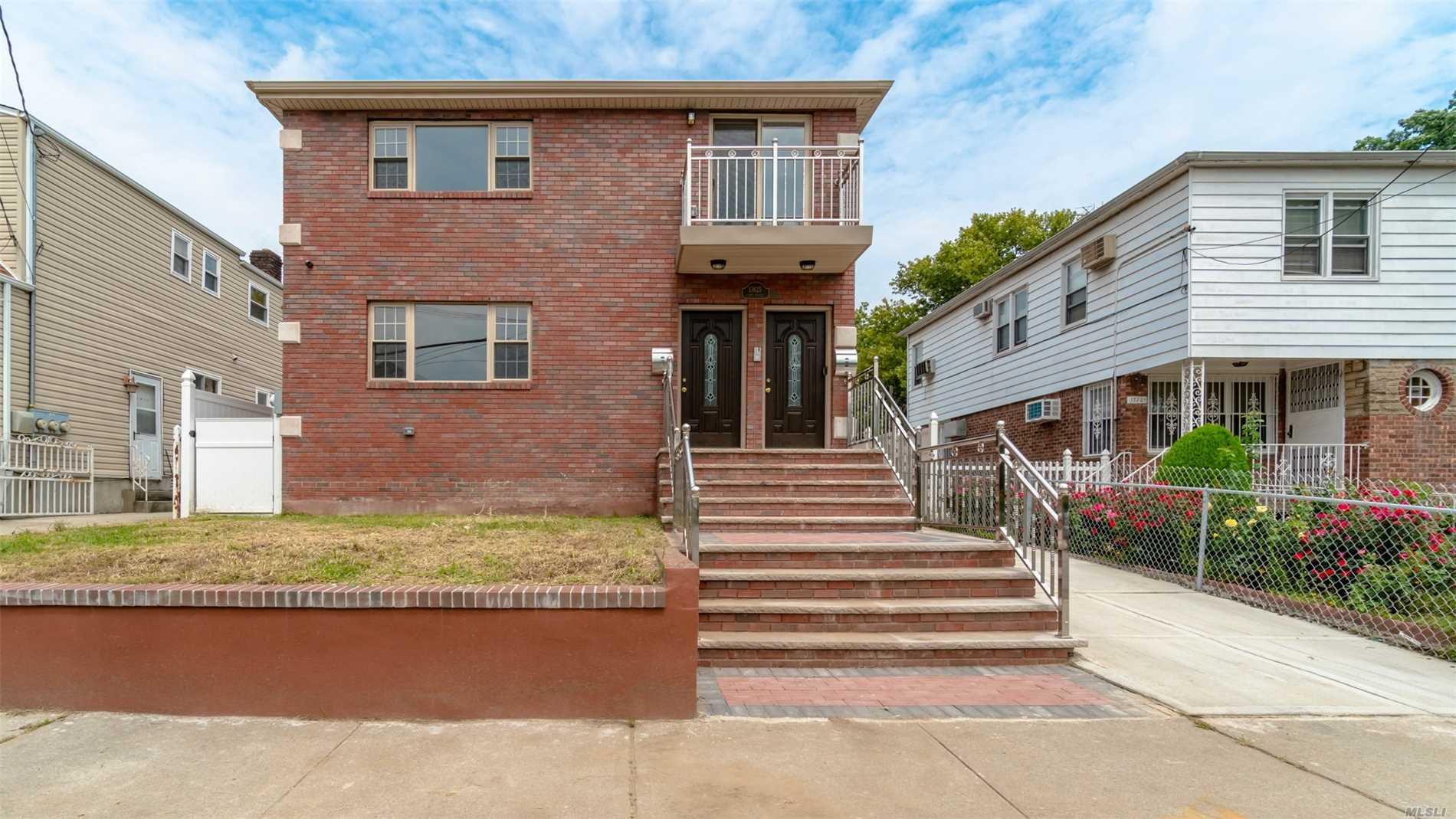 Brand New Brick 2 Family House Close To Main Street! Each Unit Has 3 Bedrooms And 2 Full Bathrooms. Finished Basement With Separate Entrance And Full Bathroom! Hardwood Floors, Stainless Steel Appliances!