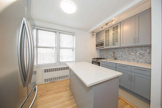 This Beautiful One Bedroom Coop Is Centrally Located In The Heart Of Jackson Heights. Its Been Restored To 2018 Standards Boasting Hardwood Floors Throughout, New Kitchen With Quartczcounter Tops To Make You Seem Like A Gourmet Chef. You Will Wake Up By The Sun Because This Unit Has Been Blessed With A Southern Exposure, Which Keeps It Bright All Day. This Is An Elevator With Handicap Access, Laundry Is On The Premises And The Maintenance Is Low. Close To All Major Transportation.