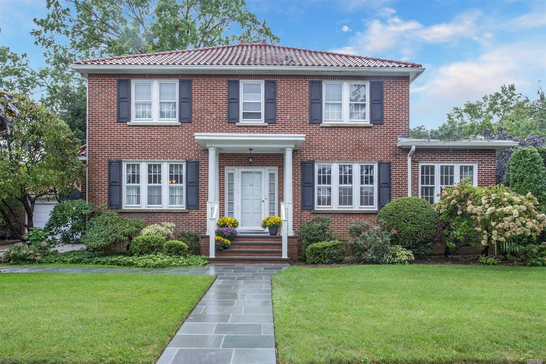 Gracious & Elegant Brick Ctr. Hall Colonial Located In The Bryn Mawr Section Of Rvc! Inviting Foyer, Sprawling Main Level, L/R W/Wood Burning F/P, Elegant D/R W/Original Stain Glass, Huge Updated Eik, Side Family Room, Library Area, BR, Full Bath, 2nd Level Boasts Spacious Master En-Suite, Plus 4 Additional Queen Size BR. Updated Hall Bth.. Finished Recreation Area In Basement, Laundry & Storage. Rear Patio For Entertaining, Large Side Property. Taxes Grieved For 2020/2021. $7, 000 Credit For Taxes